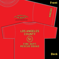 Cool Squad 51 Firefighter LA COUNTY Station 51   Mouse Pad