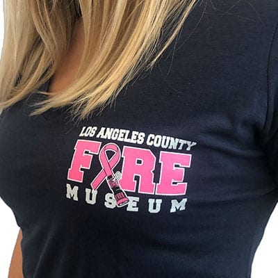 Front of the Museum's Cancer Awareness Shirt