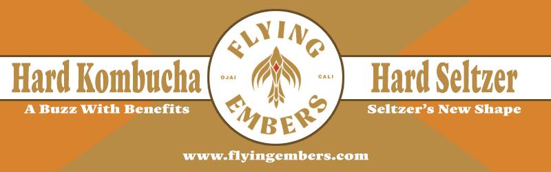 Flying Embers Hard Kombucha, Hard Seltzer, Seltzer's New Shape, A Buzz with Benefits, www.flyingembers.com
